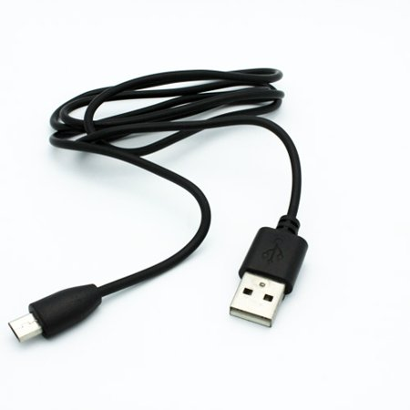 Black 3ft USB Cable Rapid Charger Sync Power Wire Data Transfer Cord Micro-USB W2B for Alcatel OneTouch Pop 7 - Amazon Kindle Keyboard 3G Paperwhite - ASUS Memo Pad ME102