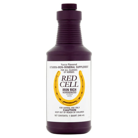 Red Cell Iron Rich Homogenized Selenium Biotin Horse Supplement  1 Qt