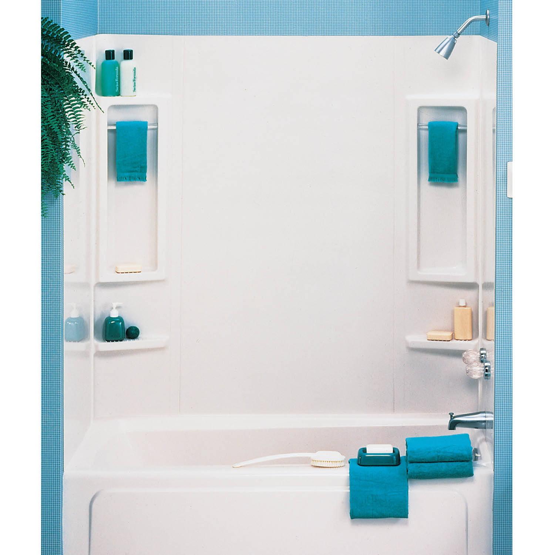 ASB 39240 5-Piece White Vantage Tub Wall