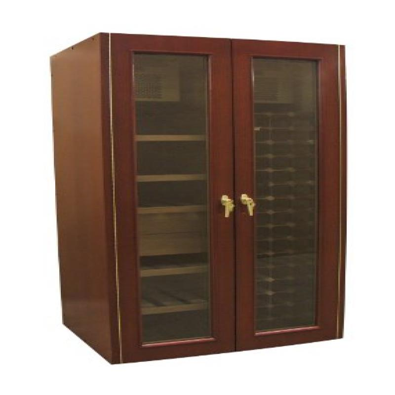 Vinotemp VINO-700W&C Two Doors Wine and Cigar Cooler Cabinet