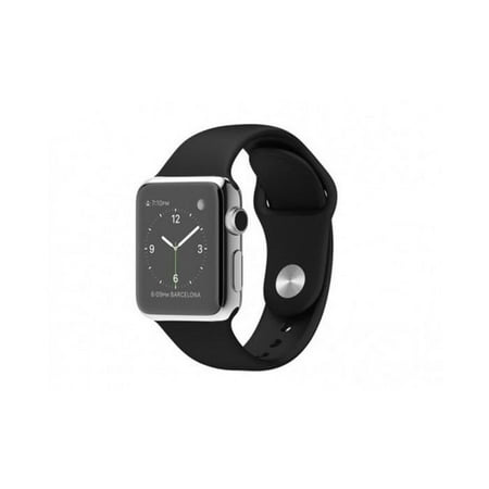 Apple Watch Series 1 42MM Stainless Steel Silver with Black Band