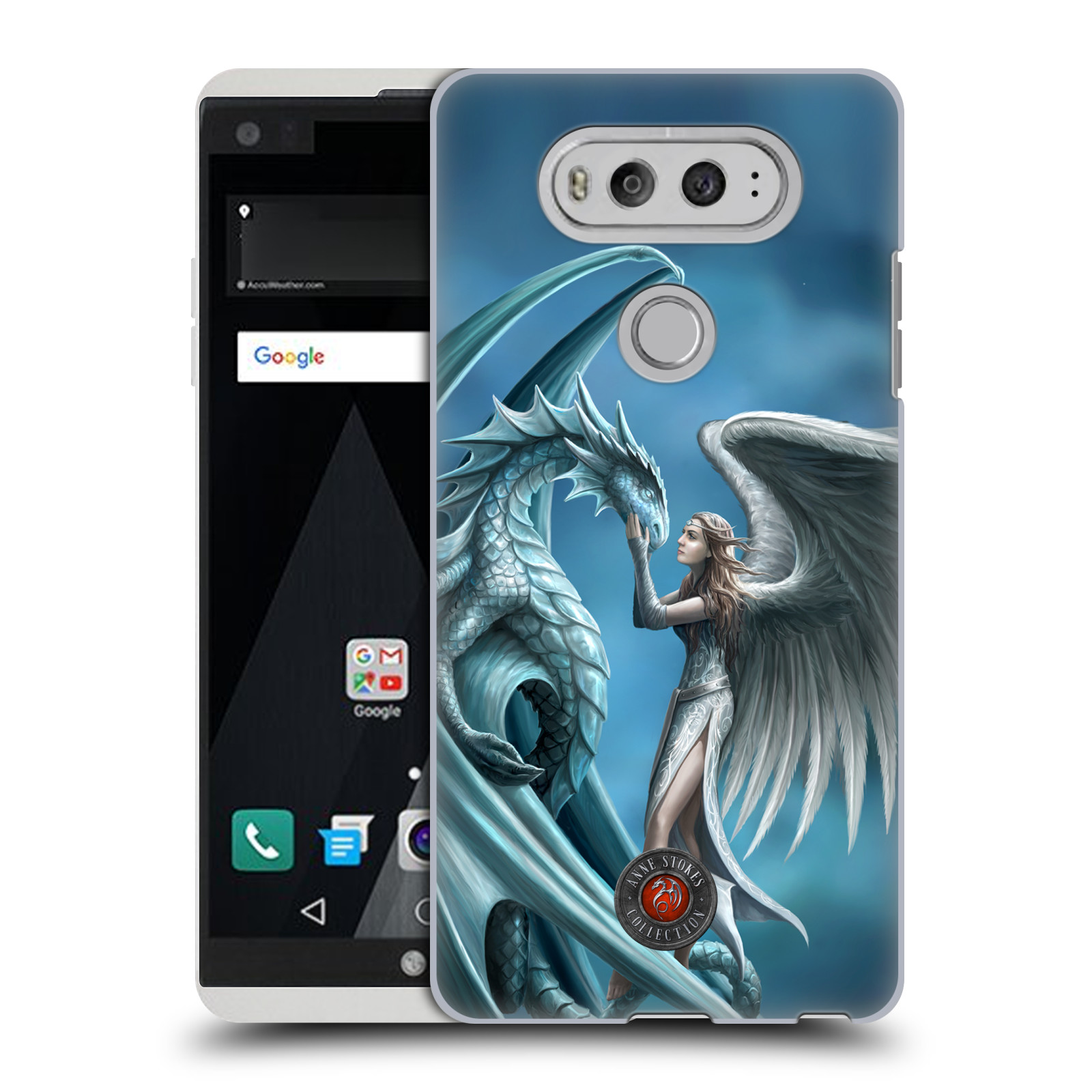 OFFICIAL ANNE STOKES DRAGON FRIENDSHIP HARD BACK CASE FOR LG PHONES 1