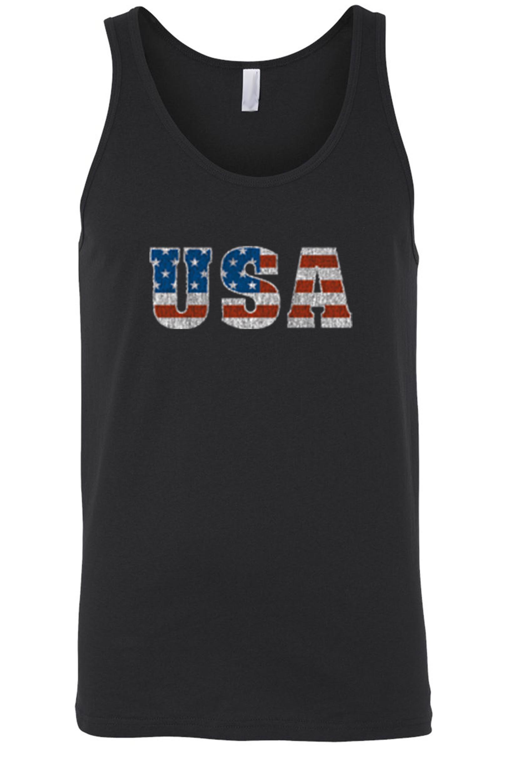 Men's/Unisex USA Flag Proud To Be An American Tank Top Shirt