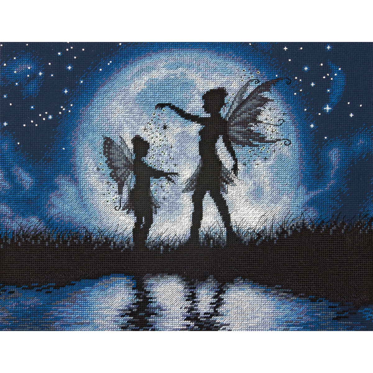 """Dimensions Twilight Silhouette Counted Cross Stitch Kit, 14"""" x 11"""", 14 Count"""