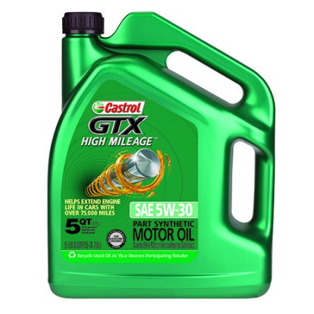 castrol gtx 5w 30 high mileage motor oil 5 qt