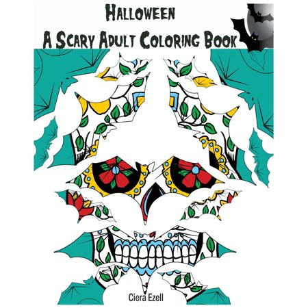 Halloween: A Scary Adult Coloring Book 1: Pattern Coloring Book (Paperback) (Preschool Halloween Party Games And Activities)