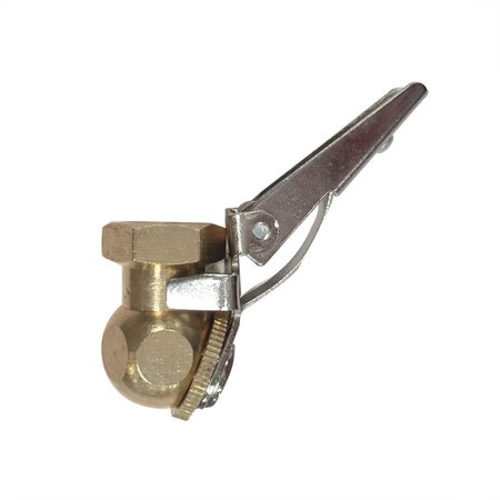 T03 1/4 Inch FPT Angle Ball Foot Chuck w/Clip, Angled Ball Foot Chuck with Clip | Machined brass body By Interstate Pneumatics