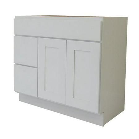- NGY Stone & Cabinet Shaker Cabinet 42'' Single Bathroom Vanity Base Only