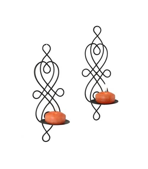 Click here to buy Danya B Wire Twisted Candle Sconce (Set of 2) by Danya B.