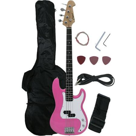 crescent direct eb46 pk 46 inch pink premium electric bass guitar. Black Bedroom Furniture Sets. Home Design Ideas