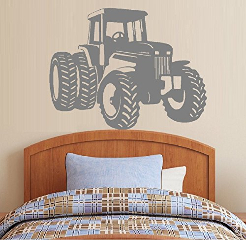 """Decal ~ Tractor #5 Ex Large: Children, Barn, Wall Decal 40"""" x 51"""" (Black)"""