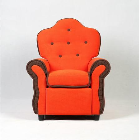 Costway Child Recliner Kids Sofa Chair Couch Living Room Furniture Orange - image 3 de 7
