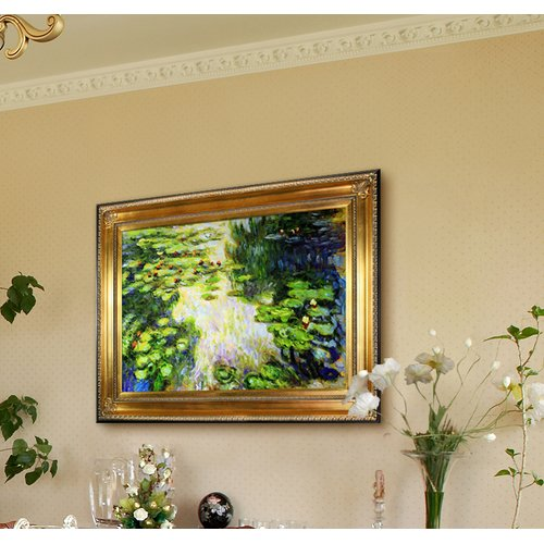Tori Home 'Water Lilies' by Claude Monet Framed Painting Print on Canvas