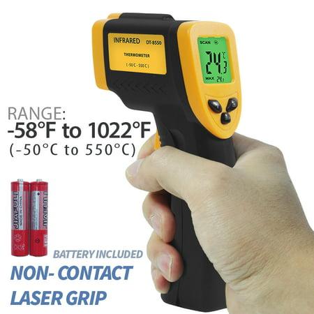 Infrared Temperature Gauge - Loadstone Studio -58℉ - 1022℉ (-50℃ - 550℃) Non-Contact Infrared Thermometer Temperature Gun with Precision Laser Technology Industrial Automotive Home , WMLS2418