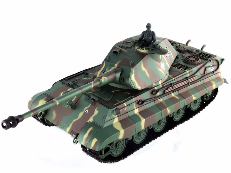 2.4Ghz Radio Control 1 16 King Tiger (Porsche Turret) Air Soft RC Battle Tank w Sound &... by
