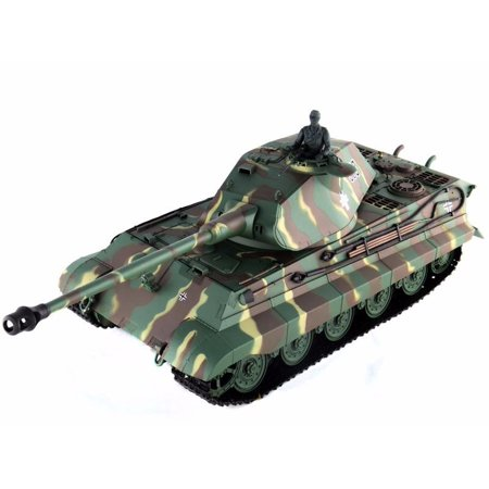 2.4Ghz Radio Control 1/16 King Tiger (Porsche Turret) Air Soft RC Battle Tank w/Sound & Smoke RC