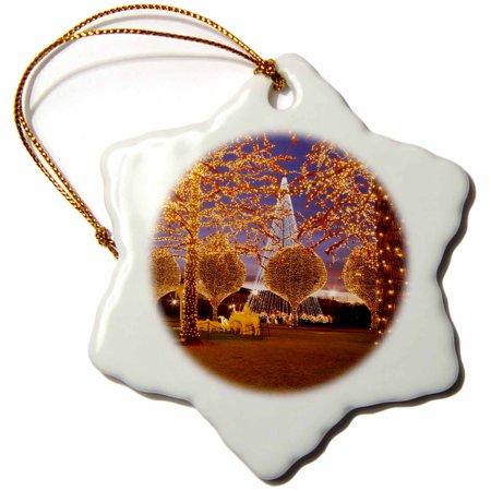 3dRose Christmas, Opryland Hotel, Nashville, Tennessee USA - US43 BJN0048 - Brian Jannsen - Snowflake Ornament, 3-inch ()
