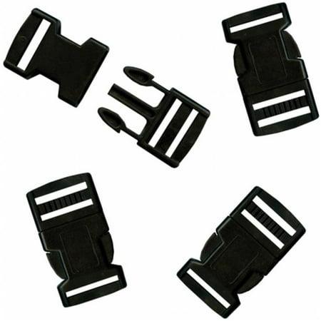 Parachute Cord Bracelet Buckles 20mm 4/Pkg-Black](Parachute Cord Bracelets)