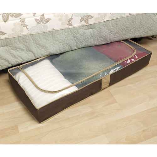 Household Essentials Coffee Linen Collection Under Bed Chest