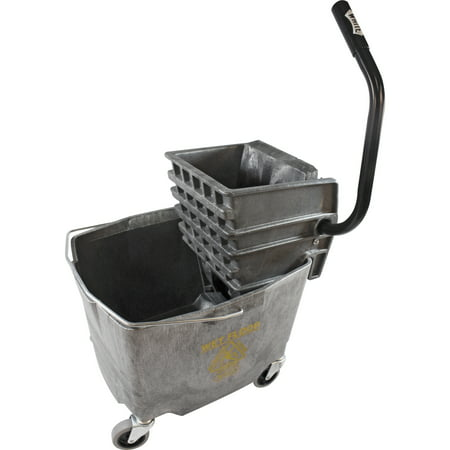 Impact Products, IMP6G26353G, 35 QT Side Press Mop Bucket Wringer Combo, 1 Each, Gray