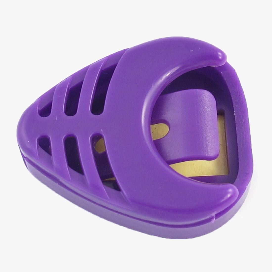 handy purple plastic guitar plectrum thumb pick case box. Black Bedroom Furniture Sets. Home Design Ideas