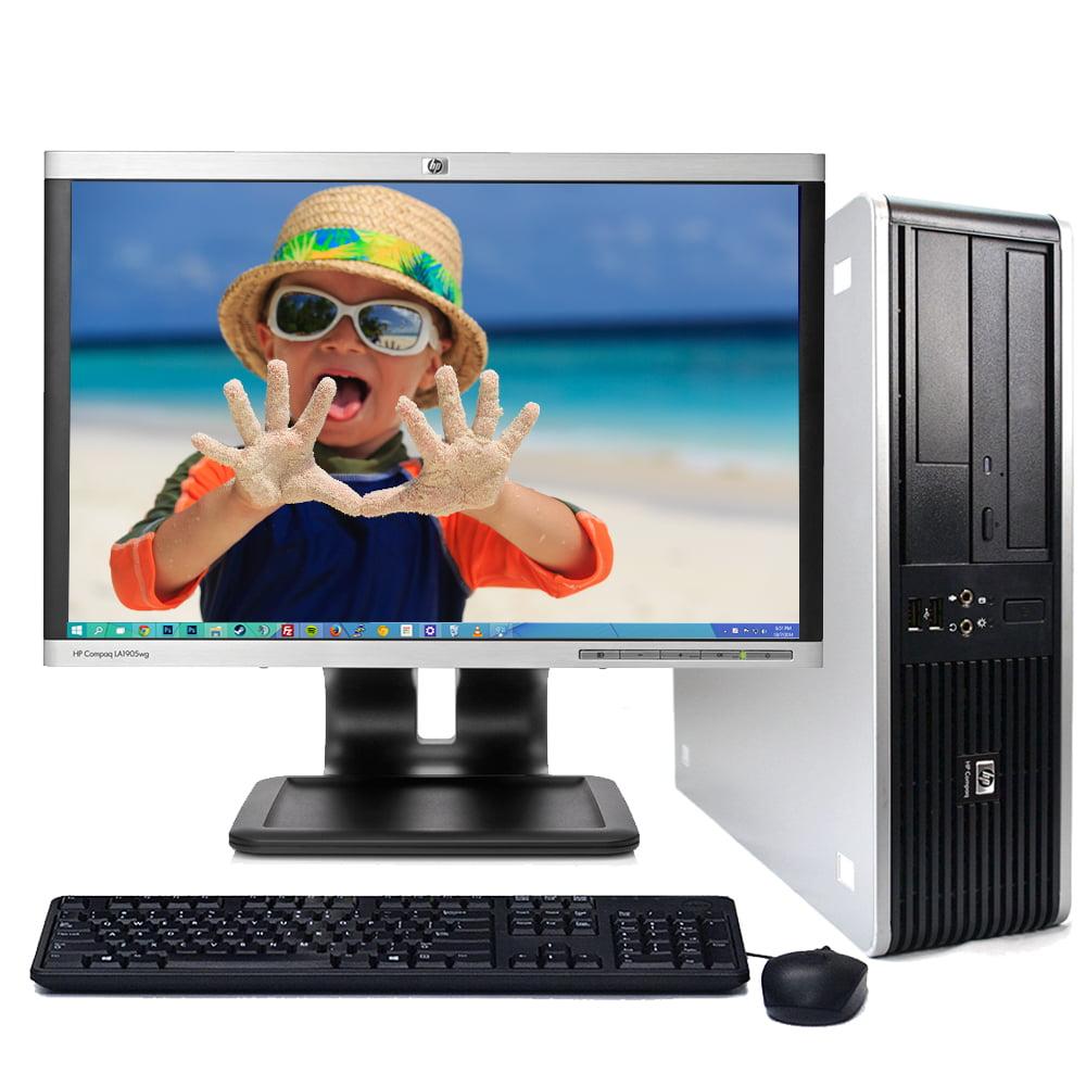 "HP 5700 Windows 10 Desktop Computer PC Intel 1.8GHz 4GB Ram 1TB Hard Drive DVD w/17"" LCD Monitor-Refurbished Computer"