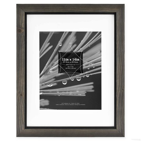 Timber Frame Builders - TIMBER Distressed Gray Black Wood 4x6 Frame by MCS