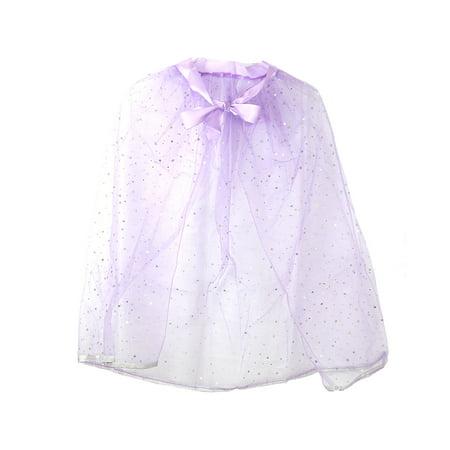 Pretend Play Dress Up Mozlly Purple Princess Twinkle Star Costume Cape (Multipack of 3) (Twinkle Dress)