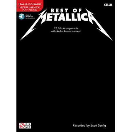 Play Along (Cherry Lane Music): Best of Metallica for Cello: 12 Solo Arrangements with Audio Accompaniment