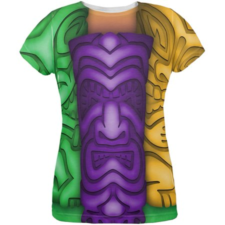 Mardi Gras Tiki Glass Party All Over Womens T Shirt](Mardi Gras Fashions For This Year)