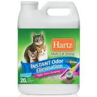 Hartz Multi-Cat Strong Fresh Scent Clumping Cat Litter, 20-lb