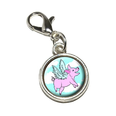 Flying Pig - When Pigs Fly Bracelet Charm