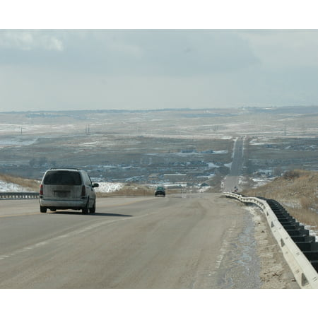LAMINATED POSTER Colorado State Highway 94 looking west toward the city from the top of a hill near Curtis Road. The Poster Print 24 x 36](Party City West Hills)