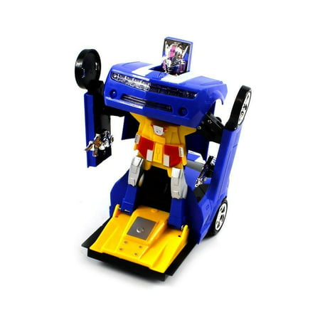 Go Robots - Bump 'N Go Action Chevy Camaro SS Transforming Super Robot Electric Toy Figure (Colors May Vary)