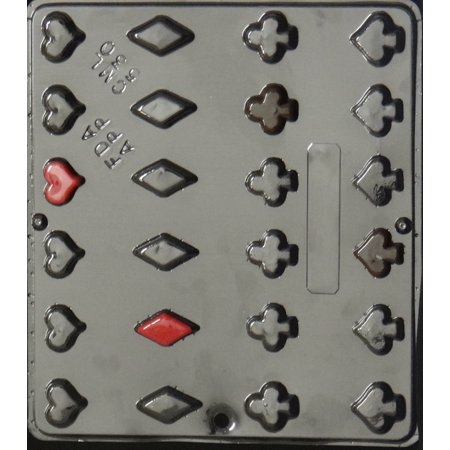 530 Playing Cards Suits Chocolate Candy Mold - Moll Suit