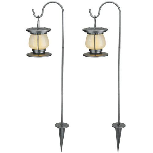 Brinkmann 2-Piece Kettle Lantern Solar Landscape Lights