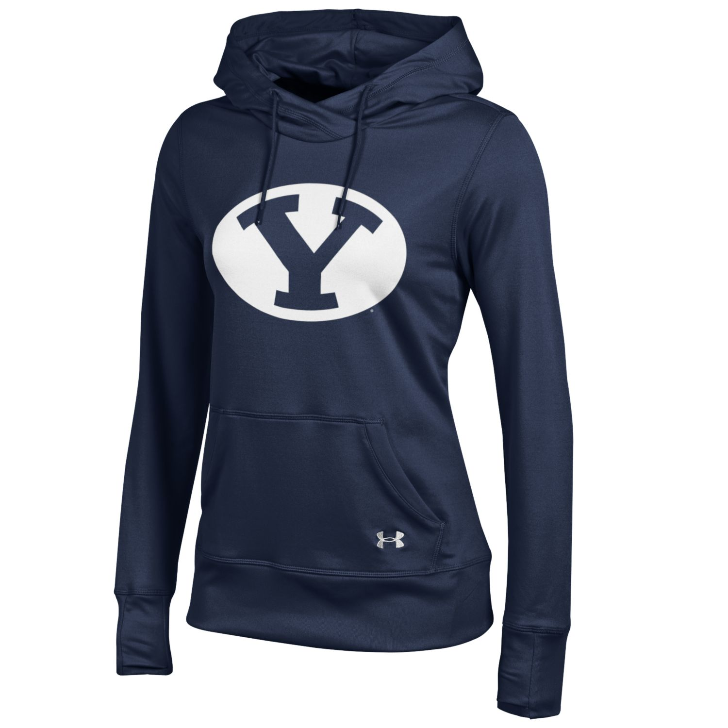 Under Armour BYU Cougars Womens Oval Y French Terry Pullover Hoodie (Navy)
