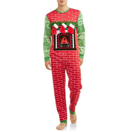 New Mens Union Suit (DEC 25TH Men's Sleep, Fill My Stocking Christmas Union Suit)