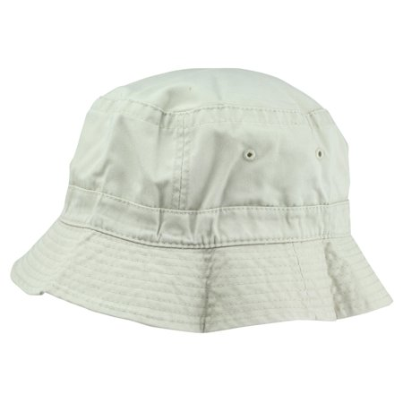 DALIX Bucket Hat Washed Cotton -Extra Large 7 3/8 Size in Beige - White Bucket Hats