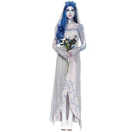 Corpse Bride Costume Halloween (Leg Avenue Adult Tim Burton's Corpse Bride 4-Piece)