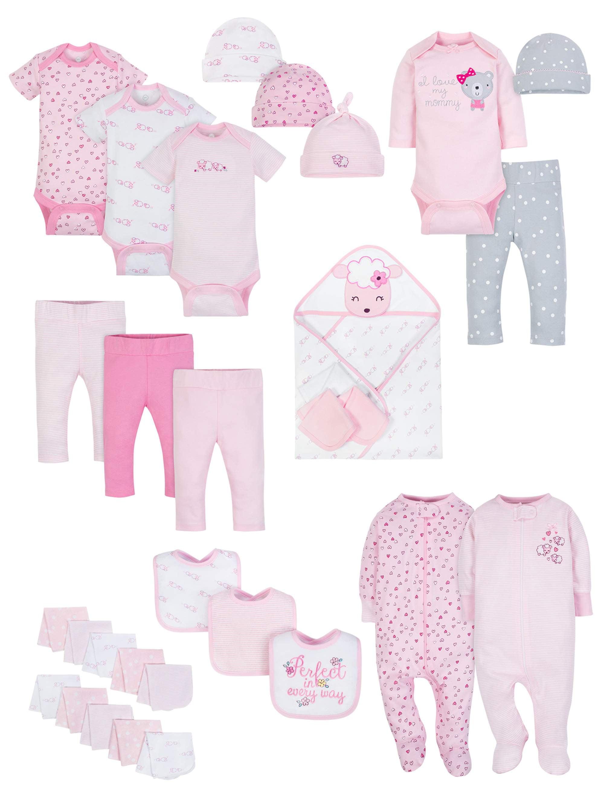 Baby Shower Layette Gift Set, 31-piece (Baby Girls)