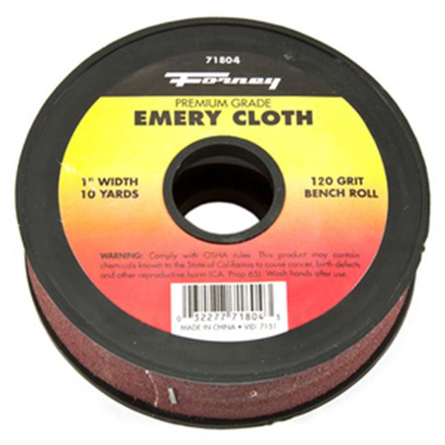 Forney Industries Inc 71804 Cloth Emery 120 Grit 1 inch x 10 Yard