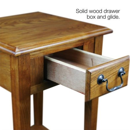 Favorite Finds 2 Piece Coffee Table and Set of 2 Square End Table in Medium Oak - image 7 de 9