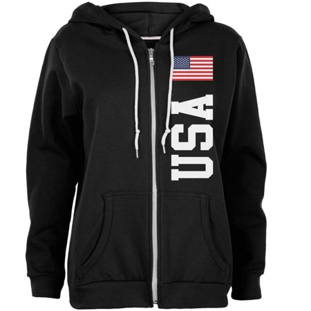 4th Of July America Flag World Cup Womens Full Zip