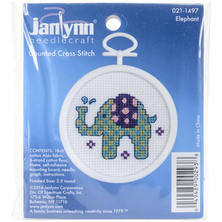 Stitched Elephant (Elephant Mini Counted Cross Stitch Kit-2.5
