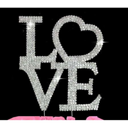 Crystal Cake Toppers Love Wedding Cake Toppers Large Crystal Cake Toppers Love Wedding Cake Toppers Large