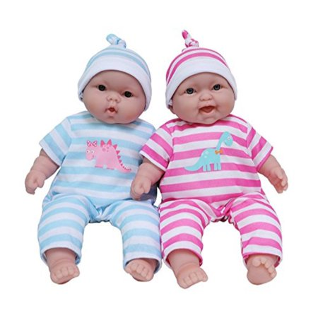 JC Toys Lots to Cuddle Babies, 13-Inch Baby Soft Doll Soft Body Twins, Designed by Berenguer ()