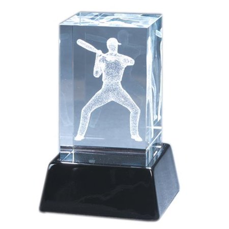 Natico Originals 60-CR-230 Crystal Block with  Baseball Play - image 1 of 1