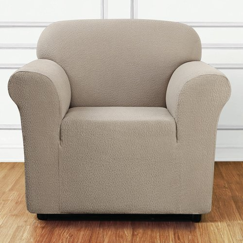 Sure Fit Stretch Delicate Leaf 1-Piece Chair Slipcover