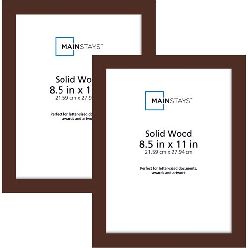 Mainstays 85x11 Wood Photo Frames Brown Set Of 2 Walmartcom
